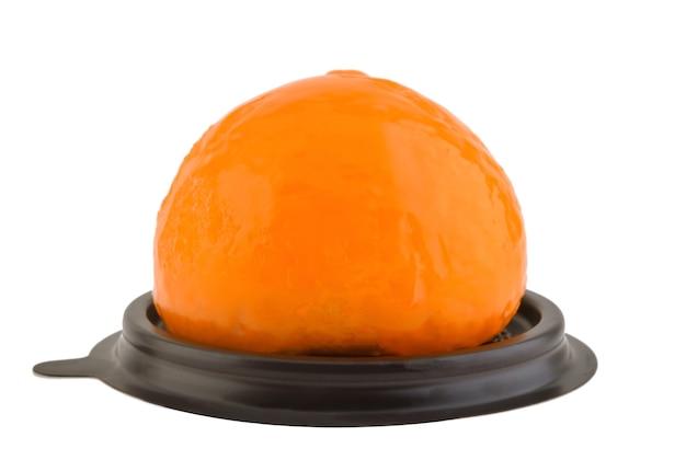 Orange cake isolated in white background