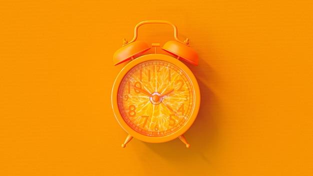 Orange clock.
