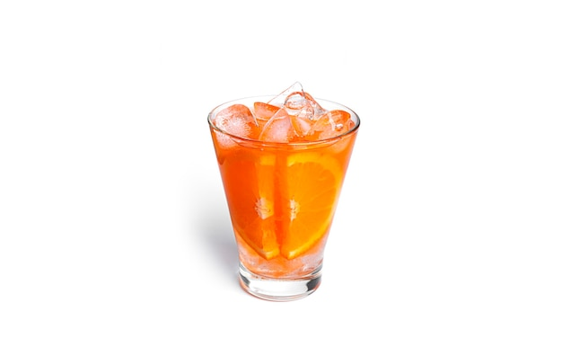 Orange cocktail isolated on a white background