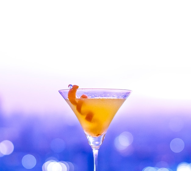 Orange cocktail at a rooftop