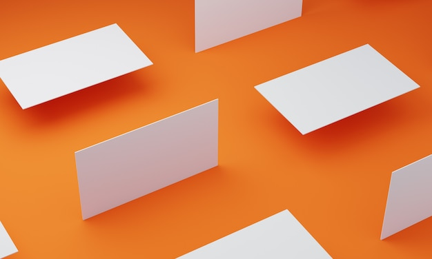 Orange color floor and  business card