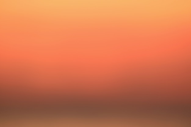 Orange color gradation of the sunrise sky in thailand, for background