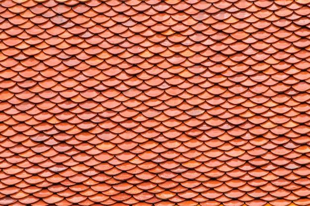 Orange color roof tiles background