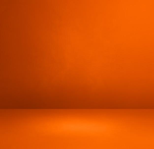 Оранжевый бетонный интерьер фон. пустая шаблонная сцена