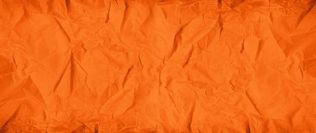 Оранжевый мятой бумаги текстуру фона