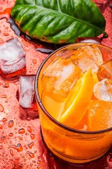 Orange drink with ice