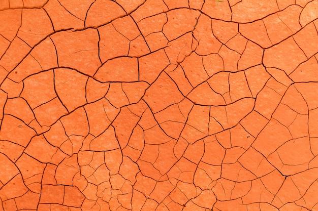 オレンジ干ばつ土壌テクスチャ背景