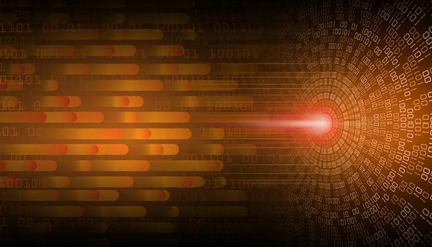 주황색 눈 사이버 회로 미래 기술 개념 배경