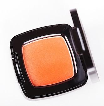 Orange eye shadows on white