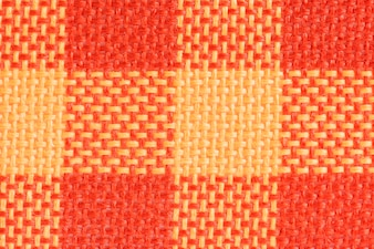 Orange fabric closeup