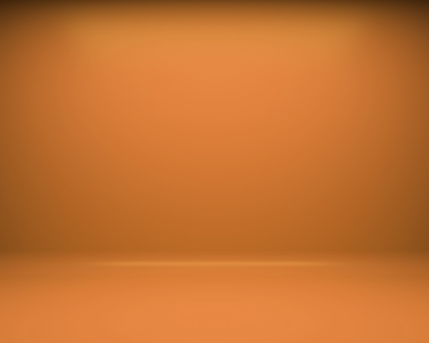 Orange floor and wall background. 3d rendering