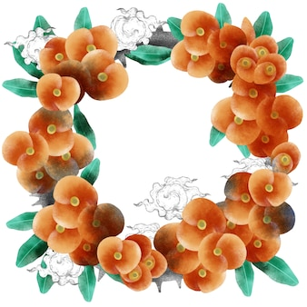 Orange flower round bouquet wreath
