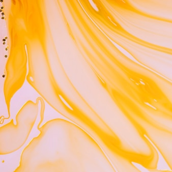 Orange fluid layers abstract design