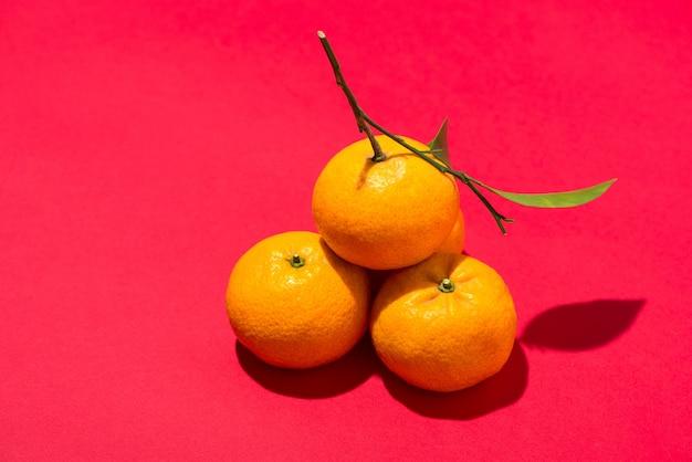 旧正月のオレンジ。テトホリデーコンセプト。