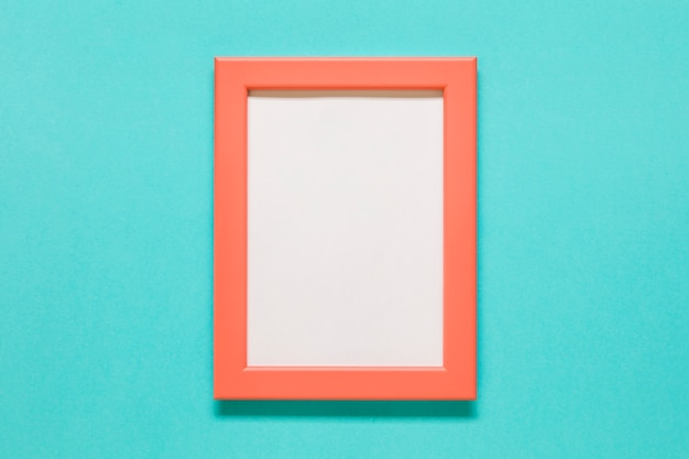 Orange frame on blue background
