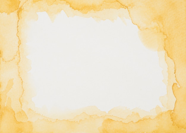 Orange frame of paints on white sheet