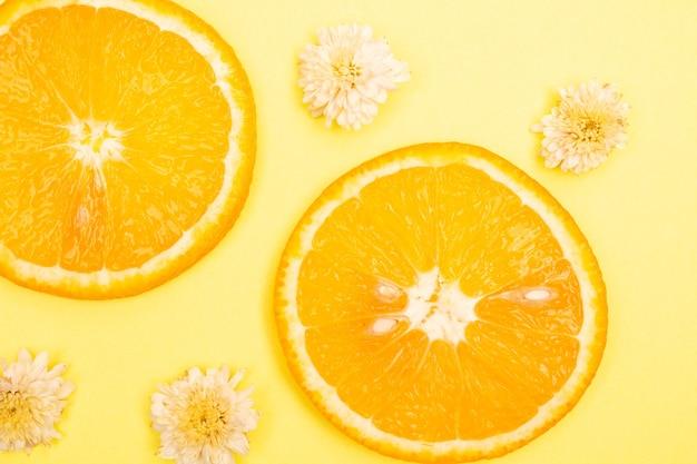 오렌지 과일 패턴 구성