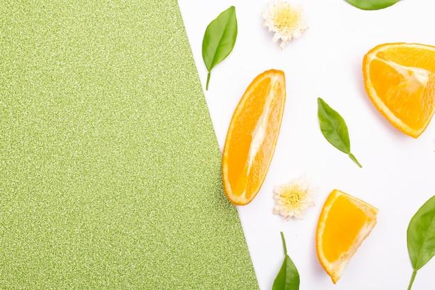 Orange fruit pattern composition