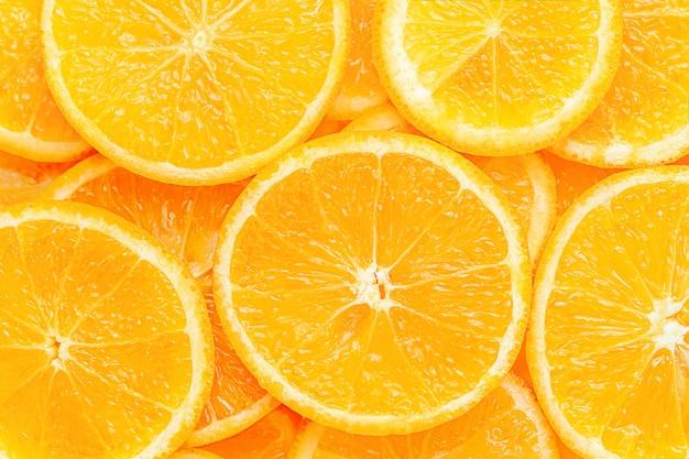 오렌지 과일 패턴. 바로 위의 건강 식품 배경.