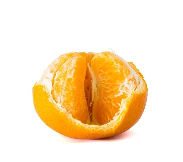 Orange fruit  peeled off