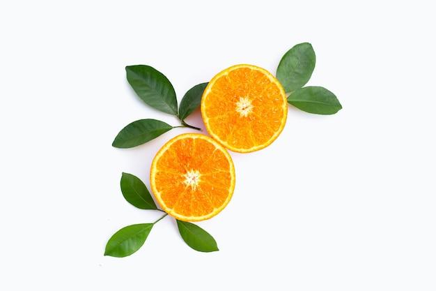 オレンジ色の果物。シトラスフルーツ