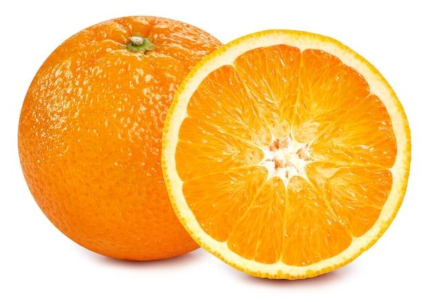 オレンジ色の果物は白い背景で隔離。オレンジのクリッピングパス