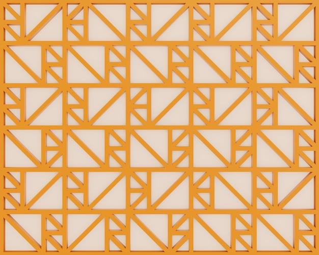 3d 렌더링 모양 오렌지 기하학 스타일