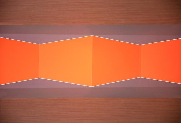 Оранжевая геометрическая текстура стены и обои