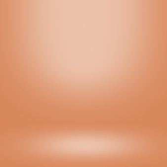 Orange gradient background and empty studio room for display product