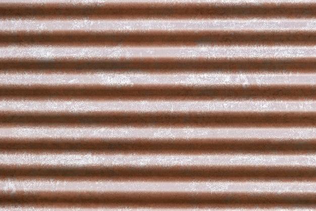 屋根のためのオレンジ色の溝のある金属