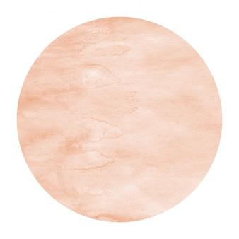 Orange hand drawn watercolor circular frame
