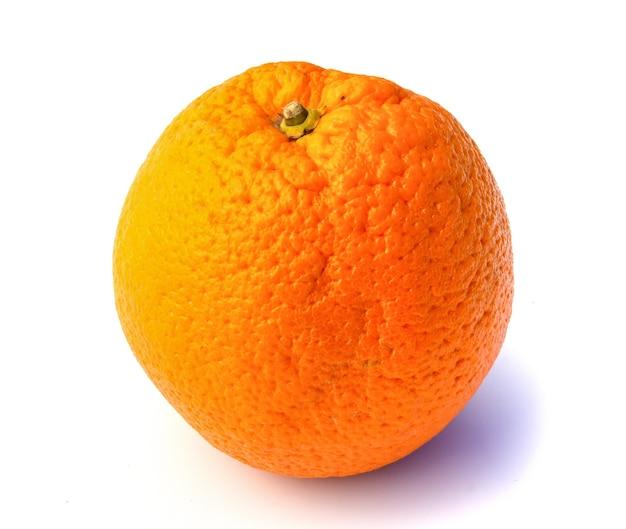 오렌지 흰색 배경에 고립입니다.