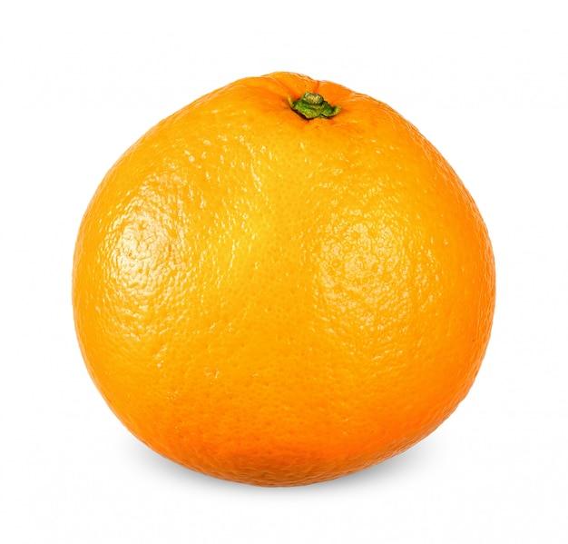白いクリッピングパスで分離されたオレンジ