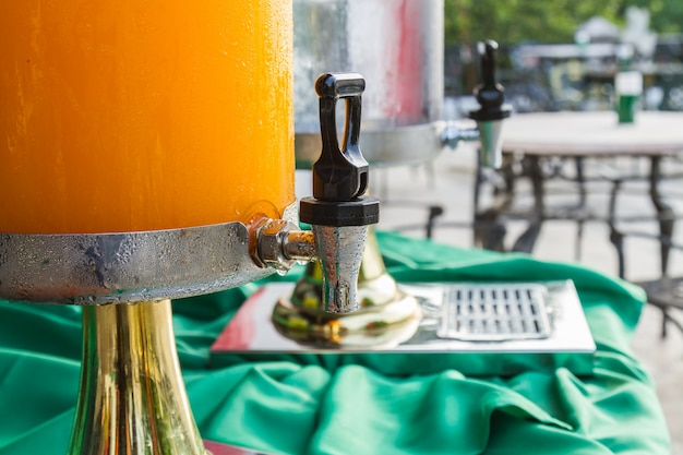 Orange juice buffet