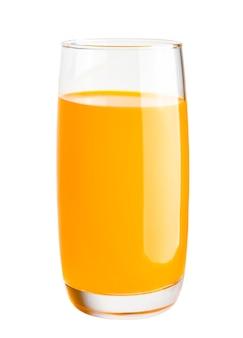 オレンジジュースガラスは白い背景で隔離
