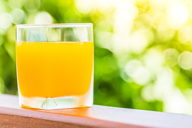 Orange juice glass