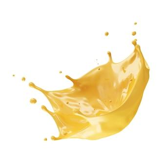 Всплеск апельсинового сока изолированные
