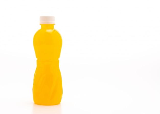 Orange juice with nata de coco or coconut jelly