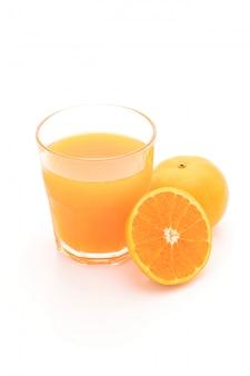 Orange juice with orange isolated