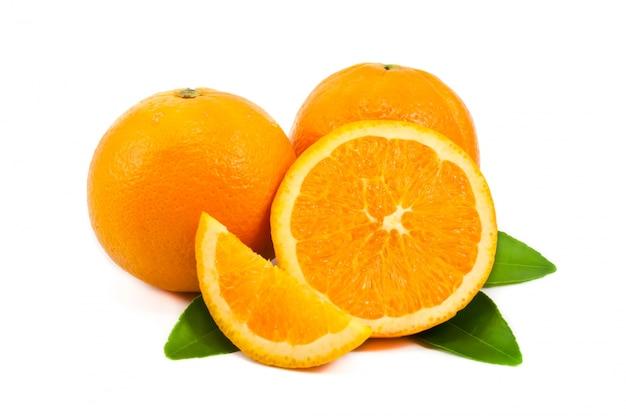 Arancione succoso circolo agrumi maturi
