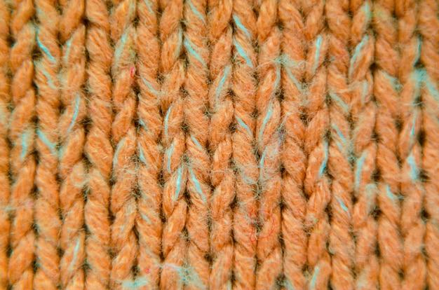 Orange knit texture close-up