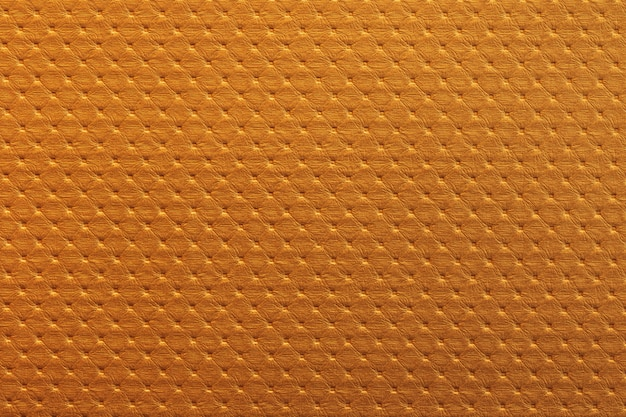 Orange leather texture background with tile pattern.