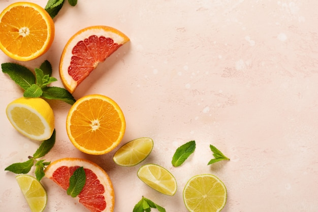 オレンジ、レモン、グレープフルーツ、マンダリン、ライム