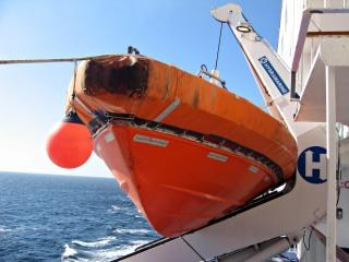 Orange lifeboat