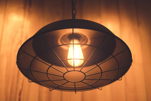 Orange light from lamp