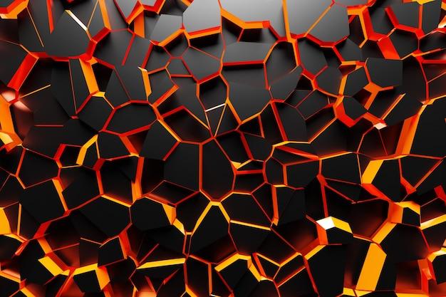 オレンジメッシュ。グランジテクスチャ。抽象的な混沌としたグランジ幾何学的な黒と赤のパターン。明るいコントラスト色手描き飾りテクスチャ背景。