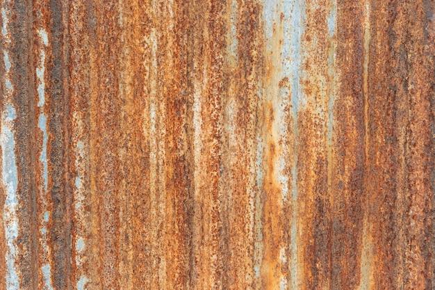 Orange metal rusty, metal grunge texture on galvanized iron plate