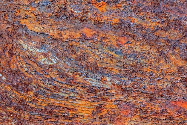 Orange metal rusty