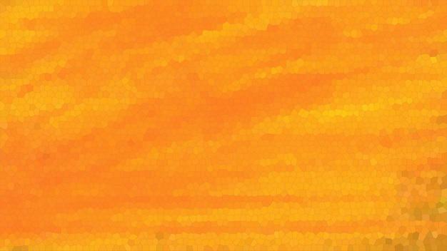 オレンジ色のモザイクの抽象的なテクスチャの背景、グラデーションの壁紙のパターンの背景