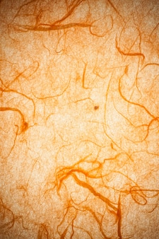 Orange mulberry paper.